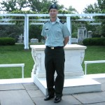 Kevin in uniform at Arlington National Cemetary