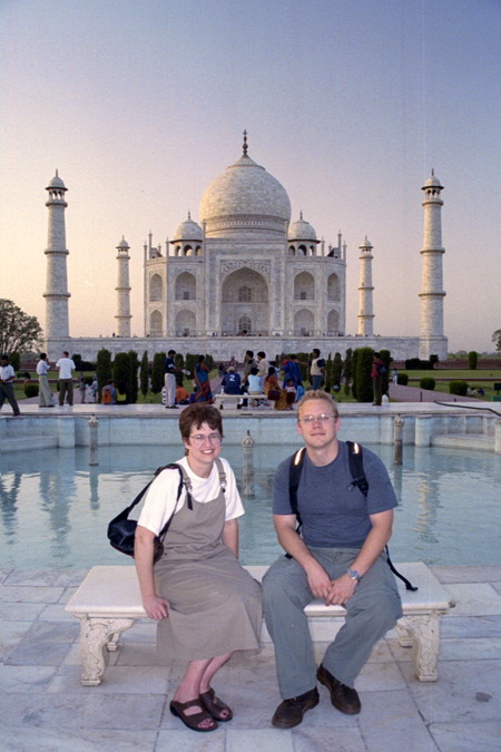 Matthew Nelson at the Taj Mahal