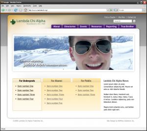 Lambda Chi Alpha website concept
