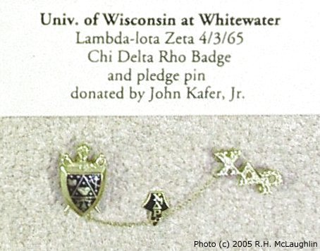 Chi Delta Rho Badge & Pledge Pin